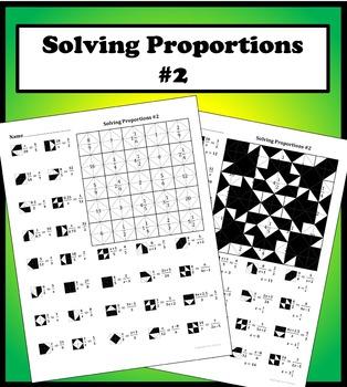 Solving Proportions #2 Color Worksheet