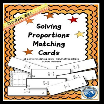 Solving Proportions Matching Card Set