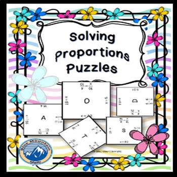 Solving Proportions Puzzle Set