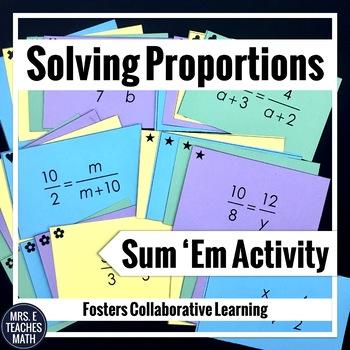 Proportions Sum Em Activity