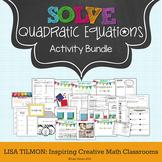 Quadratic Equations {Factoring, Completing the Square, Qua