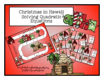 Solving Quadratic Equations Christmas Themed Board Game