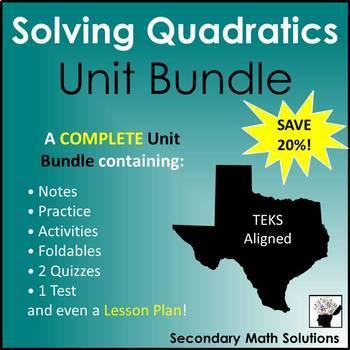 Solving Quadratic Equations (Complete Unit Bundle)