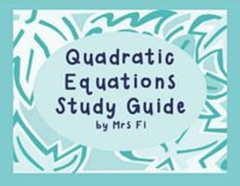 Quadratic Equations- Final Graphing and Solving by all Met
