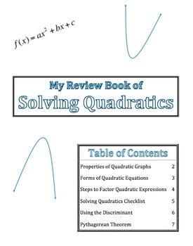 Solving Quadratics-Interactive Notebook