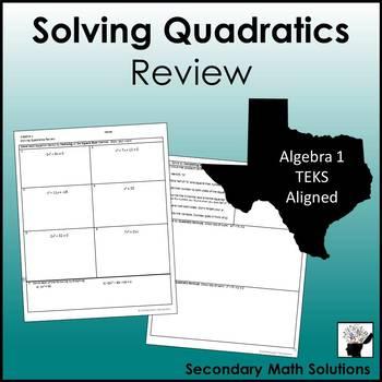 Solving Quadratics Review