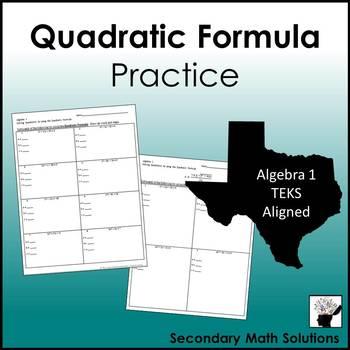 Quadratic Formula Practice
