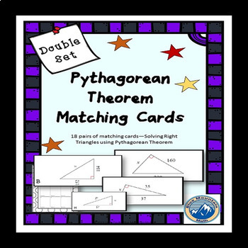Solving Right Triangles using Pythagorean Theorem Matching