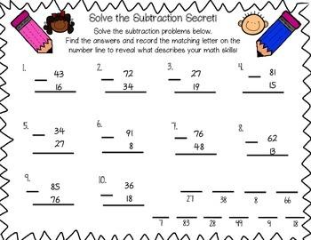 Solving Subtraction Secrets!