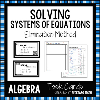 Solving Systems of Equations by Elimination ALGEBRA Task C