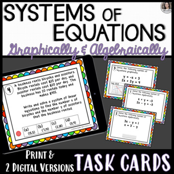 Solving Systems of Equations Algebraically (including Word