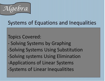 Solving Systems of Equations and Inequalities Guided Notes
