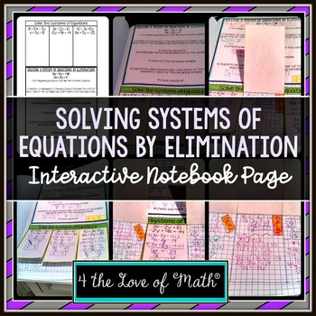 Solving Systems of Equations by Elimination: Interactive N