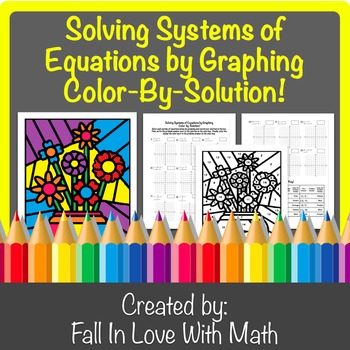 Solving Systems of Equations by Graphing Color-By-Number!