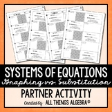 Systems of Equations (Graphing vs. Subsitution) Partner Activity
