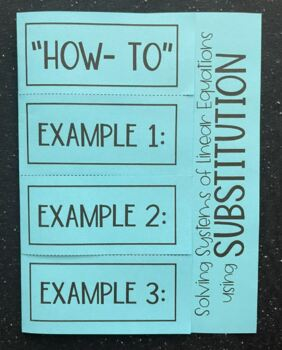 Solving Systems of Equations using Substitution (Foldable)
