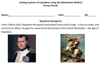 Solving Systems of Equations using the Elimination Method