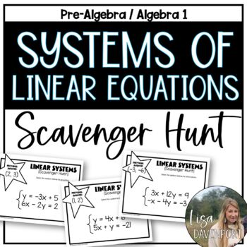 Solving Systems of Linear Equations (Scavenger Hunt)