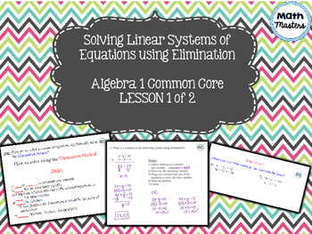 Solving Systems of Linear Equations using Elimination Less