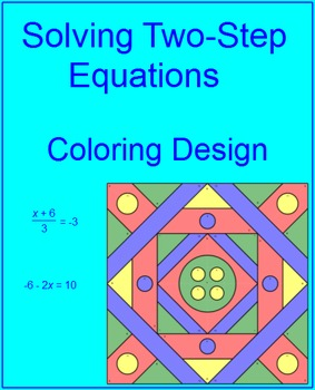 Solving Two-Step Equations Coloring Activity # 2