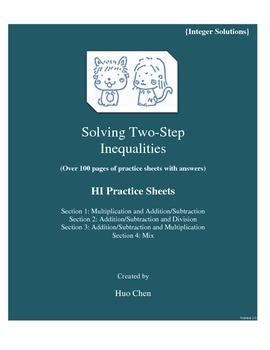 Solving Two-Step Inequalities {Integer solutions} (HI Prac
