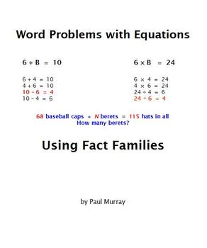 Solving Word Problems with Equations