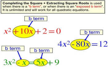 Solving a Quadratic by Completing the Square, Intro + 6 As