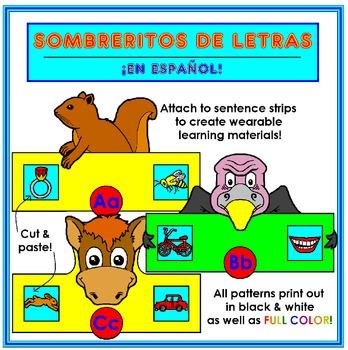 Sombreritos de las Letras/ABC Hats in Spanish