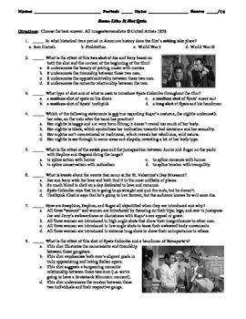 Some Like It Hot Film (1959) 15-Question Multiple Choice Quiz