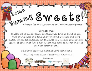 Some Yummy Treats! - A Long e (ee and e_e) Word and Pictur