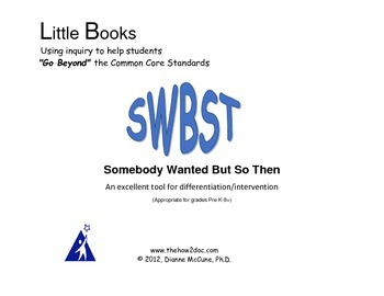 Retell/Summary - SWBST Graphic Organizer with Step by Step