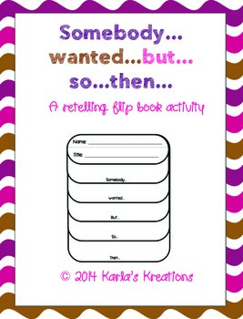 Somebody Wanted...but...so...then Retelling Flipbook