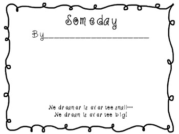 Someday...When I Grow Up Writing