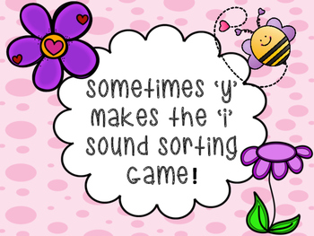 Sometimes 'y' makes 'i' sound Sorting Game!