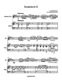 Sonata in G for Clarinet in Bb