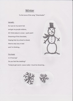Song About Winter- To the Tune of Cheerleader