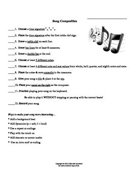 Song Composition and Grading Rubric