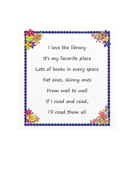 Song- I Love the Library