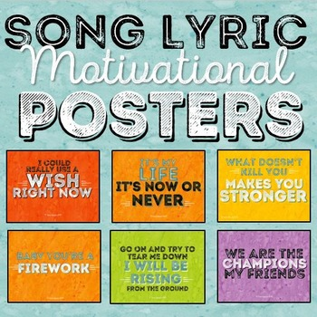 Song Lyrics Posters * Posters with Song Lyrics