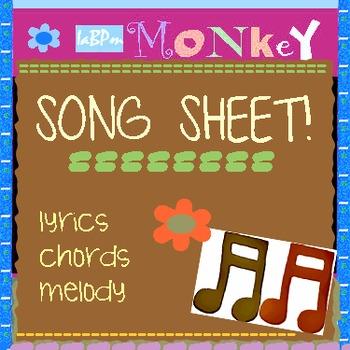 Song Sheet - Monkey
