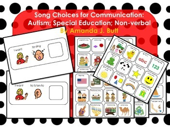 Song Picture Choices for Communication; Autism; Special Ed