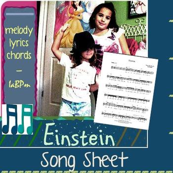 Einstein Song sheet