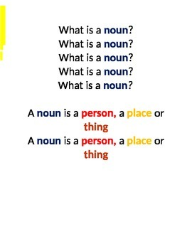 Song about Nouns
