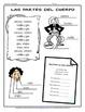 Song activity: Cabeza, hombro, rodilla y pie