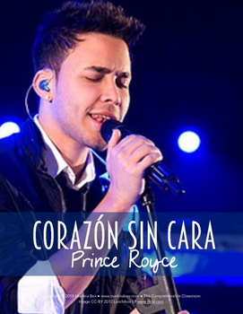 Song activity: Corazón sin cara by Prince Royce