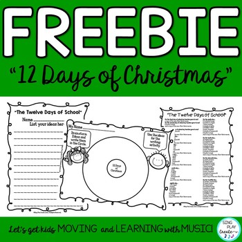 "Freebie: Song and  Lyric Writing Printable ""The Twelve Day"