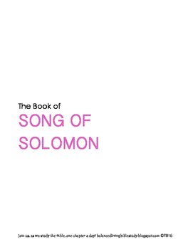 Song of Solomon WORD Guide