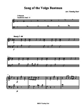 Song of the Volga Boatmen for Tone Chimes/ Choir Chimes
