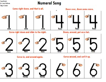 "Songboard - Dr. Jean's ""Numeral Song"""