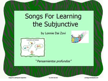 "Songs for Learning the Subjunctive – ""Pensamientos…"" (cont"